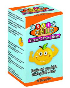 BRAIN CHILD VITAMIN C 60'S CHEW TABS
