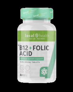 Local Health B12 + Folic Acid 60 TABS