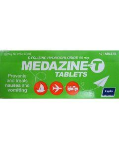 MEDAZINE T 50MG TAB 10