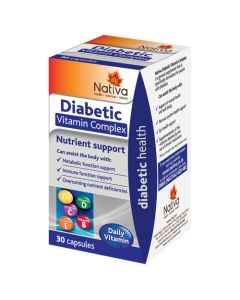 NATIVA DIABETIC VITAMIN COMPLEX CAPS 30