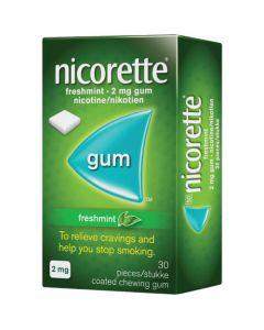NICORETTE GUM 2MG 30 FRESHMINT